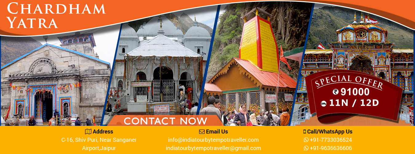 Tempo Traveller Char Dham Yatra Package from Jaipur